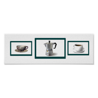 Coffee Time Horizontal Poster