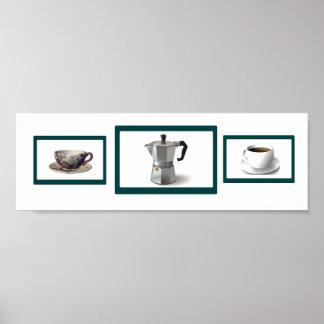 Coffee Time Horizontal Poster