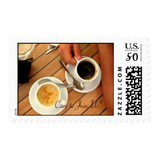 Coffee Time Inivatation Stamps
