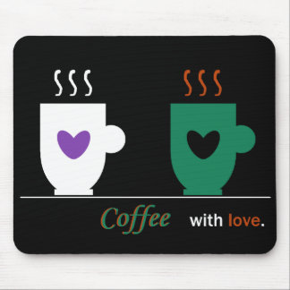 Coffee Time Love Couple Warm Stylish Simple Cool Mouse Pad