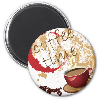 Coffee Time 2 Inch Round Magnet