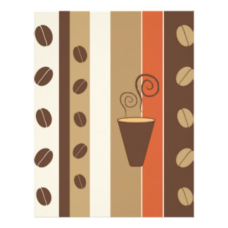 Coffee Time Modern Vector Illustration Letterhead