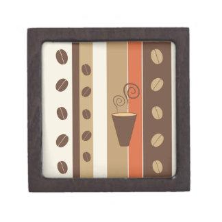 Coffee Time Modern Vector Illustration Premium Keepsake Boxes