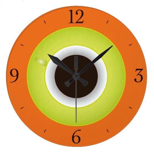 Coffee Time Orange Stylish Large Clock