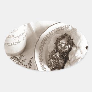 Coffee Time Oval Sticker