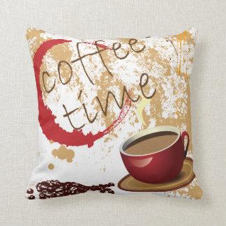 Coffee Time Throw Pillows