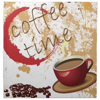 Coffee Time Printed Napkin