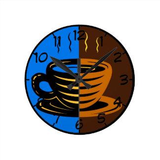 Coffee Time Round Clock