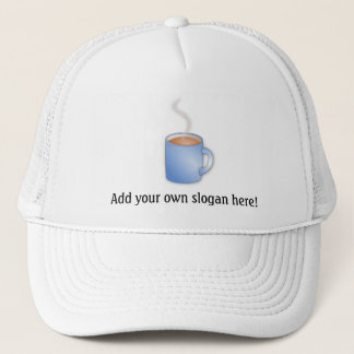 Coffee Time! Steaming Mug Graphic Trucker Hat
