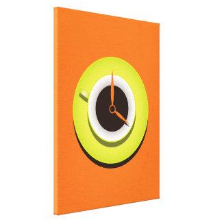 Coffee Time Stylish Vibrant Orange Canvas Print