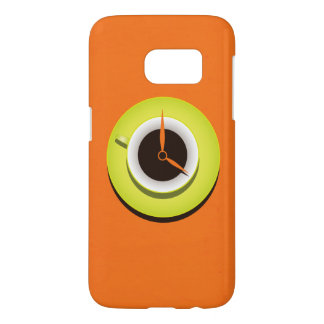 Coffee Time Stylish Vibrant Orange Samsung Galaxy S7 Case