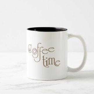 Coffee time Two-Tone coffee mug