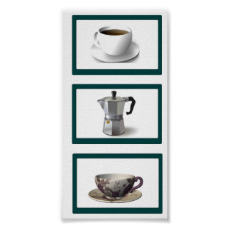 Coffee Time Vertical Poster