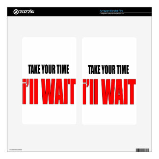 coffee time wait patience takeyourtime illwait con kindle fire decals