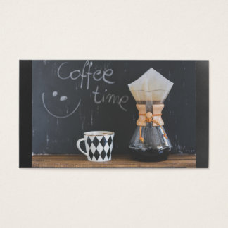Coffee Time with Cup and Coffee Pot Business Card