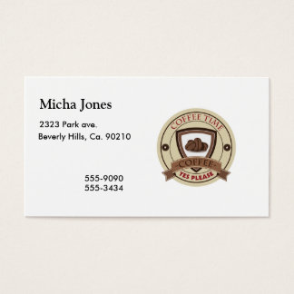 Coffee Time Yes Please Logo Business Card