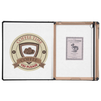Coffee Time Yes Please Logo iPad Case