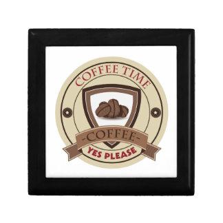 Coffee Time Yes Please Logo Jewelry Box