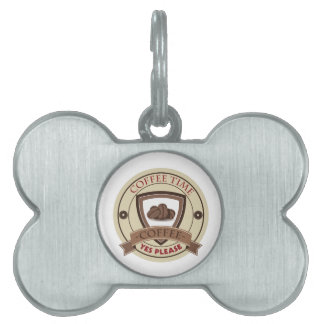 Coffee Time Yes Please Logo Pet ID Tag