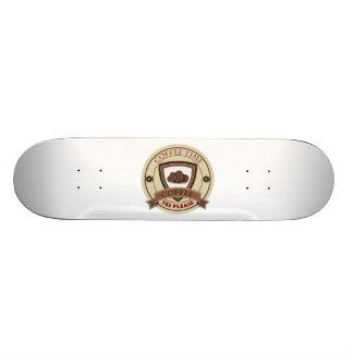 Coffee Time Yes Please Logo Skateboard Deck