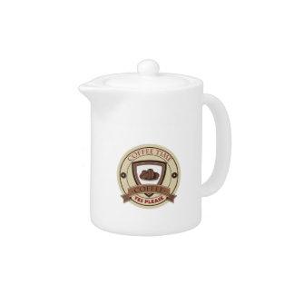 Coffee Time Yes Please Logo Teapot