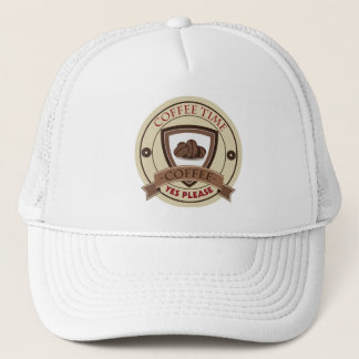 Coffee Time Yes Please Logo Trucker Hat