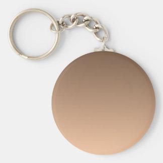 Coffee to Deep Peach Horizontal Gradient Keychain