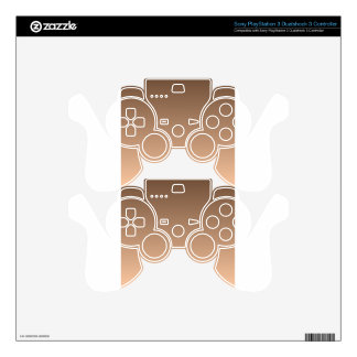 Coffee to Deep Peach Horizontal Gradient PS3 Controller Decal