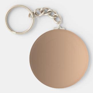 Coffee to Deep Peach Vertical Gradient Keychain
