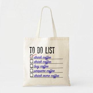 Coffee To-do-list Budget Tote