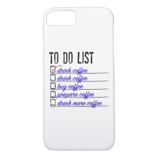 Coffee To-do-list iPhone 7, Barely There iPhone 7 Case
