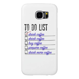 Coffee To-do-list Samsung Galaxy S6, Barely There Samsung Galaxy S6 Case