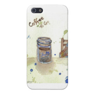 Coffee To Go Folk Art KitchenWare Case For iPhone SE/5/5s