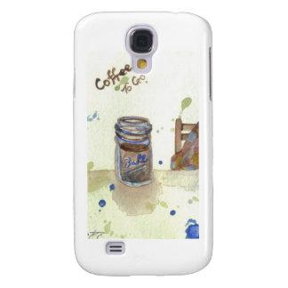 Coffee To Go Folk Art KitchenWare Samsung Galaxy S4 Cover