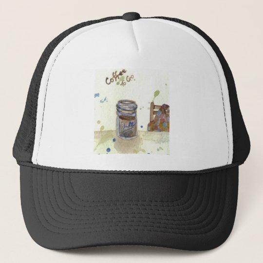 Coffee To Go Folk Art KitchenWare Trucker Hat