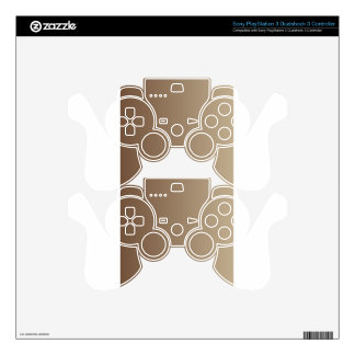 Coffee to Khaki Vertical Gradient PS3 Controller Skin