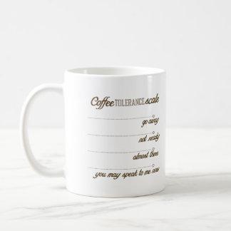 Coffee Tolerance Scale Coffee Mug
