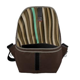 Coffee Tone Stripe Men's Commuter Bag