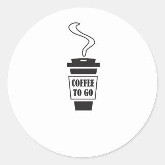coffee tons go classic round sticker