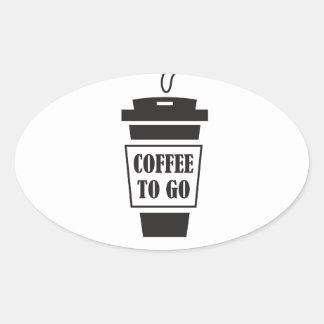 coffee tons go oval sticker