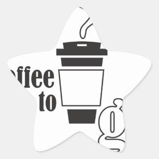 coffee tons go star sticker
