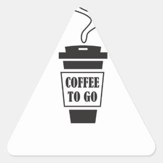 coffee tons go triangle sticker