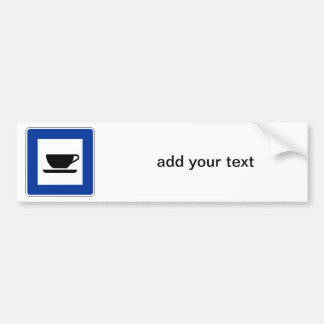 Coffee Traffic Sign Car Bumper Sticker