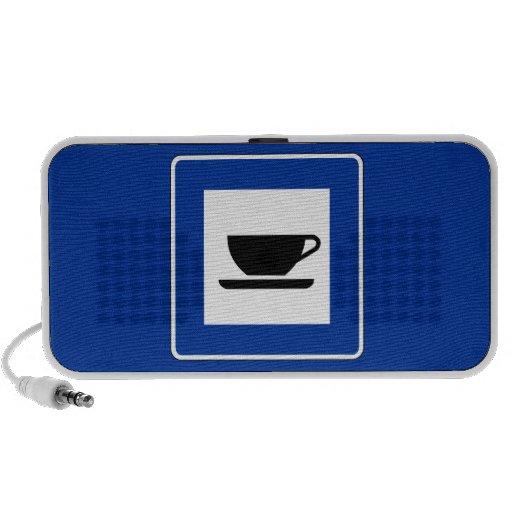 Coffee Traffic Sign Portable Speaker