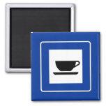 Coffee Traffic Sign Refrigerator Magnets