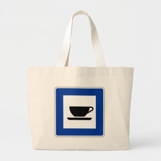 Coffee Traffic Sign Tote Bag