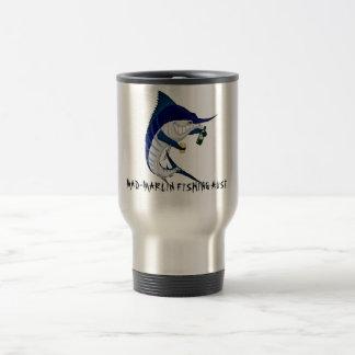 coffee travel mug, MAD-MARLIN FISHING AUST Coffee Mugs