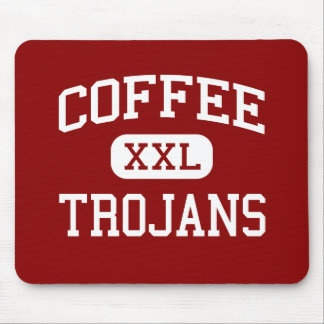 Coffee - Trojans - High School - Douglas Georgia Mouse Pad