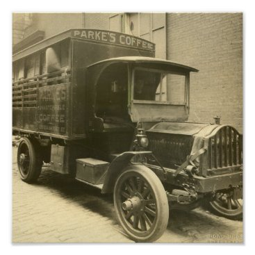Coffee Themed Coffee Truck Poster