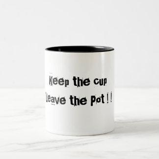Coffee unlimited Two-Tone coffee mug